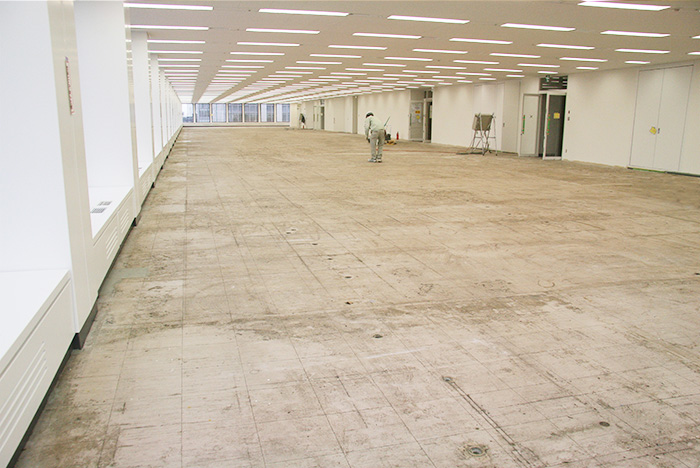 Before Network Floor Installation