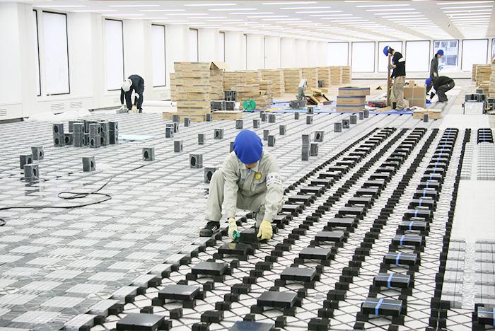 During Network Floor Installation